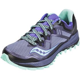 saucony Peregrine 8 Shoes Women Grey/Violet/Aqua